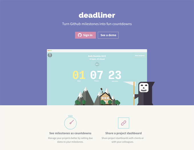 Deadliner Homepage